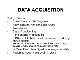CHAPTER 9 DATA ACQUISITION