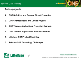 Section 3 GDT Telecom Applications Protection Examples
