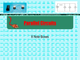 Chapter 6 – Parallel Circuits