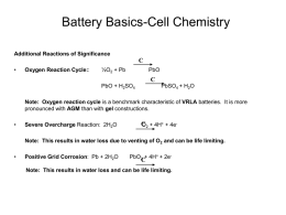 Battery Basics-Cell Chemistry Optima