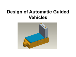 Design of Automatic Guided Vehicles