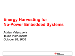 No-Power Energy Harvesting Embedded Systems