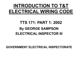 INTRODUCTION TO T&T WIRING CODE