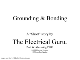 Grounding & Bonding