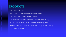PRODUCTS - The Transformer and Electrical Co Ltd,Constant