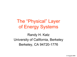 The Physical Layer of Energy Systems