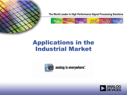 Applications in the Industrial Market