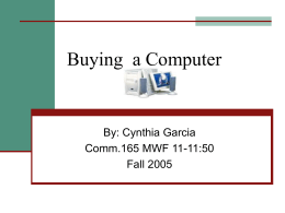 Buying a Computer - California State University, Fresno