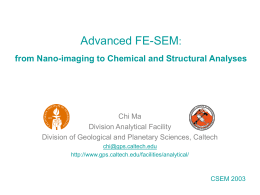 Advanced FE-SEM: from nano-imaging to chemical and