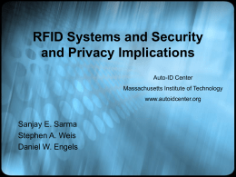 RFID Systems and Security and Privacy Implications