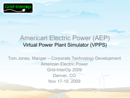 AEP Virtual Power Plant SG Demo Grid Interop 11-18
