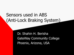 Sensors used in ABS (Anti