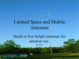 Limited Space Antennas