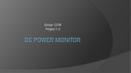 DC power monitor - Texas State University