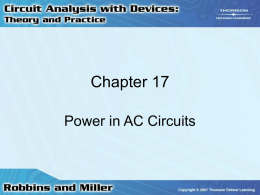 Chapter 17: Power in AC Circuits