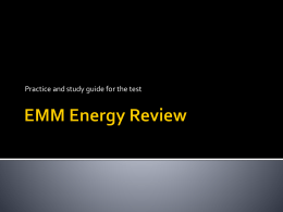 EMM Energy Review