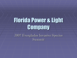 2007 Everglades Invasive Species Summit