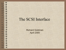 The SCSI Interface - Pioneer Pacific College