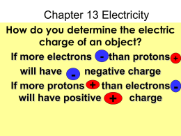 Chapter 13 Electricity