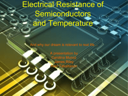Resistance of Electronics as a function of Temperature