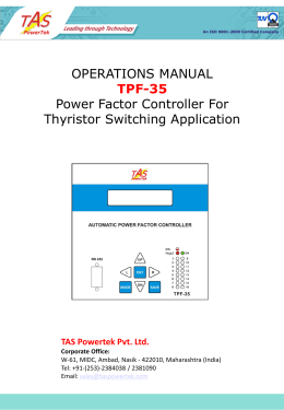 TAS Technical Document - Controllers, Switches, Reactors