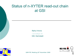 Status of n-XYTER tests for GEM