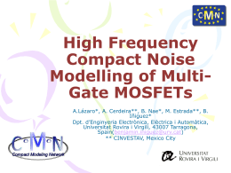 High Frequency Compact Noise Modelling of Multi