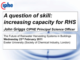 A question of skill: increasing capacity for RHS
