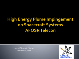 Analysis of High Energy Plume Impingement on Spacecraft