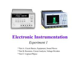 Electronic Instrumentation - Rensselaer Polytechnic Institute