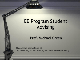 EE Program Student Advising - Henry Samueli School of