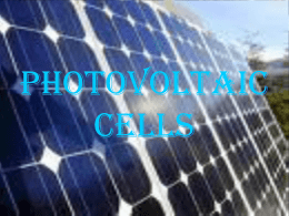 PHOTOVOLTAIC CELLS - ic