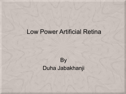 Low Power Artificial Retina