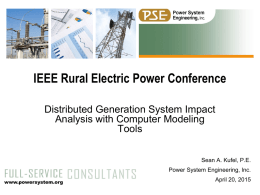 IEEE Rural Electric Power Conference