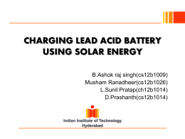 CHARGING LEAD ACID BATTERY USING SOLAR ENERGY
