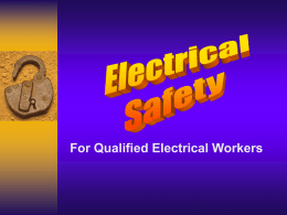 Electrical Safety - Qualified Employees