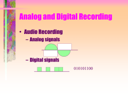 Analog and Digital Recording