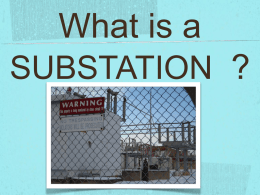 What is a SUBSTATION?
