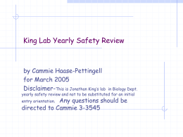 King Lab Yearly Safety Review