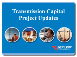 Transmission Capital Project Updates