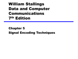 Chapter 5 Signal Encoding Techniques