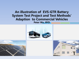 illustration of EVS-GTR Battery System Test Project and