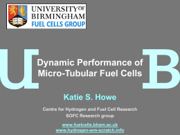 Dynamic performance of micro tubular fuel cells