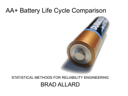 AA Battery Life Cycle Comparison