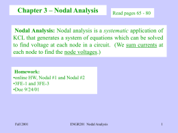 Chapter 3 - Nodal Analysis(PowerPoint Format)