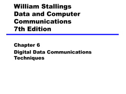 Chapter 7 Digital Data Communications Techniques