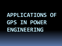 applications of gps in power engineering