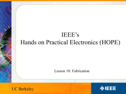 Lesson 10 - UC Berkeley IEEE