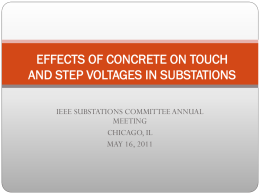 effects of concrete on touch and step voltages in substations