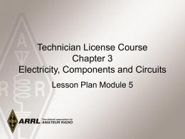 Module 5 – Electricity, Components & Circuits C3